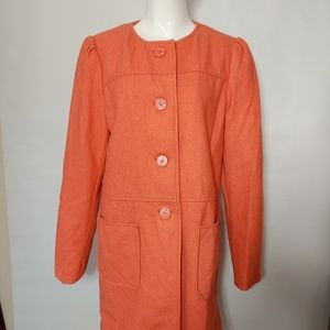 Mossimo Coral Button Up Winter Coat Size M